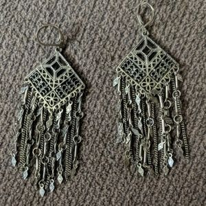 Jewelry - Gold bronze earrings